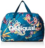 Desigual  19WQXW16, sac bandoulière femme Bleu (5049 )49x34x26 cm (B x H x T)
