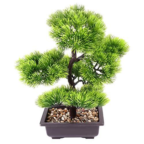 IMIKEYA Árbol Artificial de Bonsai Simulación de Decoración de Planta Falsa Planta en Maceta Pino de Bonsai de Escritorio para Mesa de Oficina en Casa