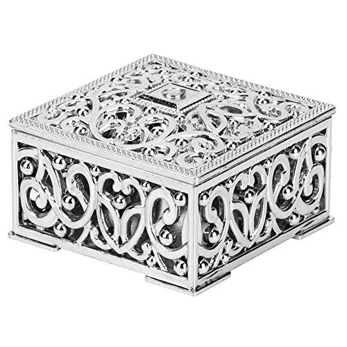 12 Piece Hollow Candy Boxes, Wedding Favor Boxes Small Treasure Chest Chocolate Gift Box for Wedding Baay Shower Birthday Party (Silver)