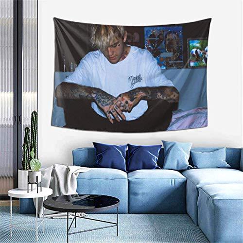 Alanader Lil-Peep Tapisserie Wandbehang Gemütliche Wandteppiche Mode Wand Home Art Dekoration Wohnzimmer Schlafzimmer Home Decor 60x40 Zoll