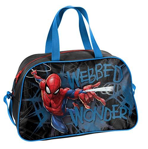 Ragusa-Trade Marvel Spiderman Spider-Man - Sporttasche Reisetasche (SPL), 40 x 25 x 13 cm, schwarz/blau