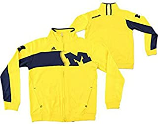 Adidas Michigan Wolverines Youth ClimaWARM Warm-Up Full Zip Jacket - Gold (Youth Medium)