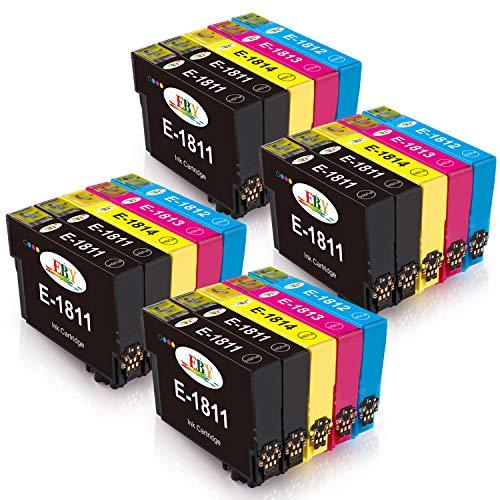 EBY Compatible Epson 18 XL 18XL Cartuchos de Tinta para Epson Expression Home XP 212 XP 305 XP 315 XP 302 XP 312 XP 322 XP 425 XP 415 XP 405 XP 225 XP 215 XP 205 XP 412 XP 422 XP 402 XP325 XP405WH