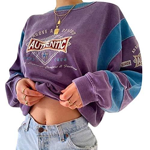 Onsoyours Damen Schmetterling Pulli Sweatshirts Hoodie Sport Langarm Kapuzenpullover Mode Bequem Casual Pulli Mit Kordel Und Taschen C Violett XS