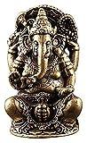 Desktop-Skulptur Ganesha Buddha Skulptur Reines Kupfer Thai Elefant Gott Statue Handwerk Ornamente Messing Kunst Figuren Home Zubehör Geschenke