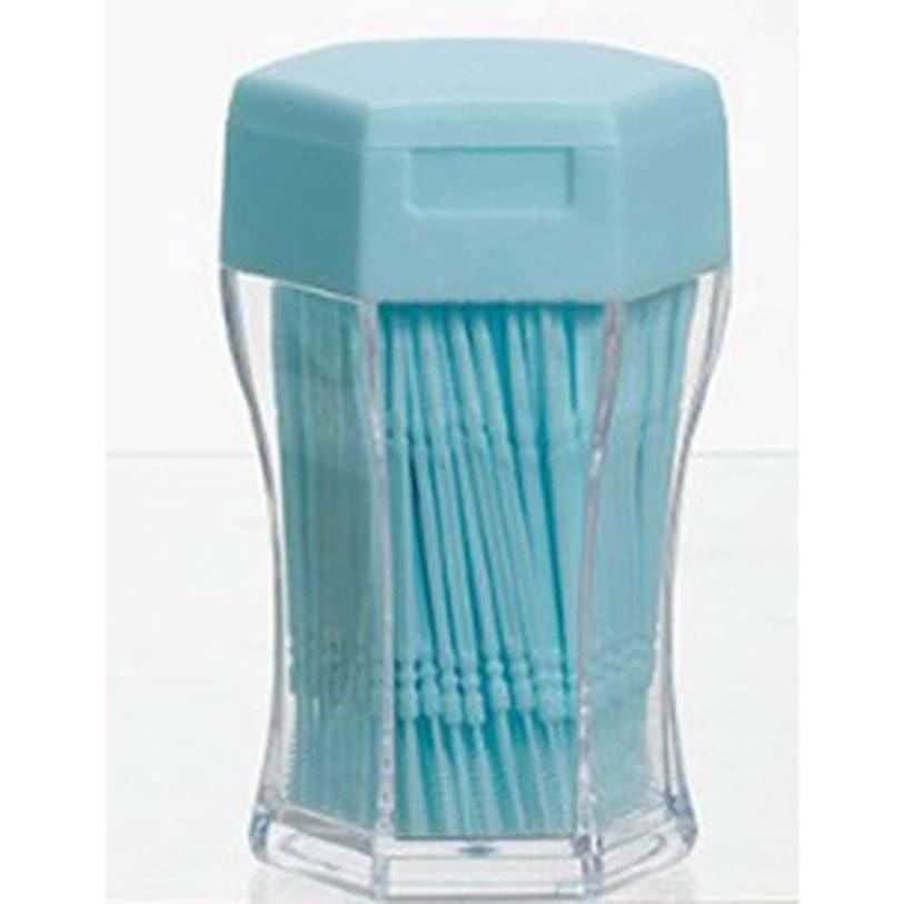 プレゼンター建築郵便物200ピース/セットダブルヘッド歯フロス衛生デンタルフロスプラスチック歯間つまようじ健康用歯のクリーニングオーラルケア (PandaWelly)