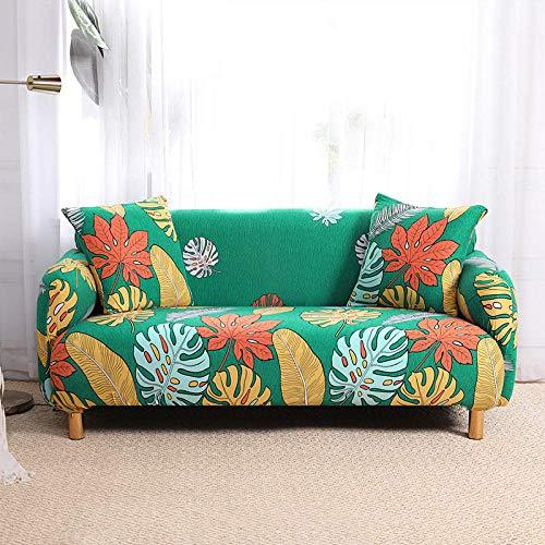 GreenPrinting - Copridivano elasticizzato universale per divano e divano con telo antiscivolo, 1 posto