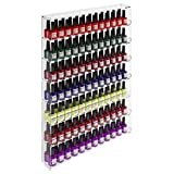 Avà srl Expositor Vitrina de Pared con 7 estantes 168 esmaltes para uñas