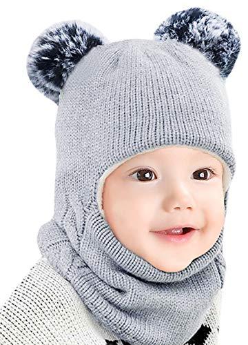 Bienvenu Baby Boy Girl Winter Hat, Kids Earflap Hat with Scarf,...