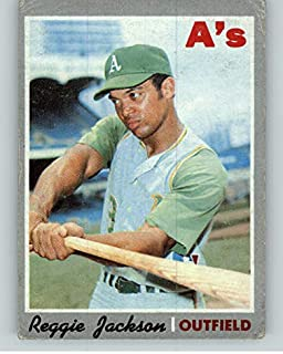 1970 Topps #140 Reggie Jackson A's VG 371178 Kit Young Cards