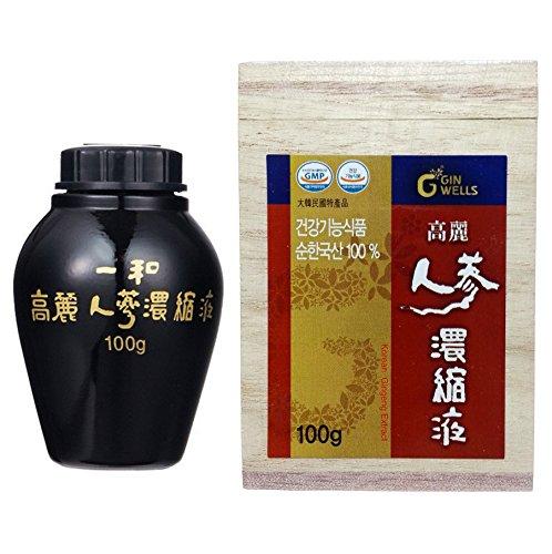 高麗人参 一和高麗人参濃縮液 エキス 100g 1本 最高ジンセノサイド 100g 並行輸入品