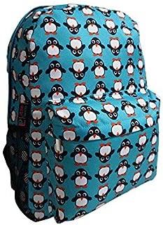 Little Planets Boys Girls All Over Print 16'' Kid School Backpack (Penguin)