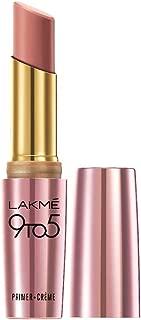 Lakme 9To5 Primer + Crème Lip Color, Nude Dust CP10, 3.6 g