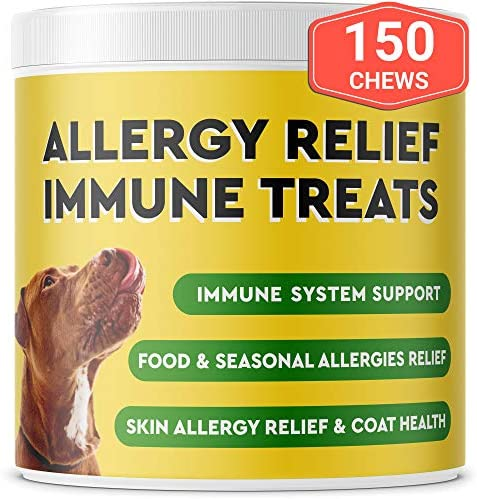 Pawfectchow Allergy Relief for Dogs Immunity Supplement with Omega 3 Salmon Fish Oil Colostrum product image