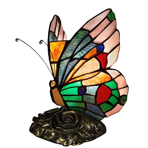 World Art TW60008 Lampes Style Tiffany, Multicolore, 22,5x14x16 Cm