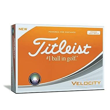 Titleist Velocity Golf Balls, Orange  (One Dozen)