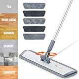 Microfiber Mop Floor Cleaning System,Baban 60' Hardwood Floor Mop with Long Handle and Cleaning Brush, Wood Floor mop with 6 Washable Mop Cloth for Wet and Dry Use