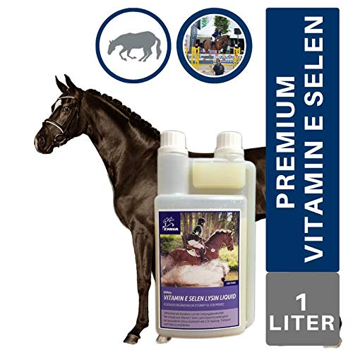 EMMA Vitamin E Selenium for horses I Supplementary feed Plus Selenium & Lysine I For muscles & metabolism I Condition & motivation I Concentrated feed for seniors 1 L