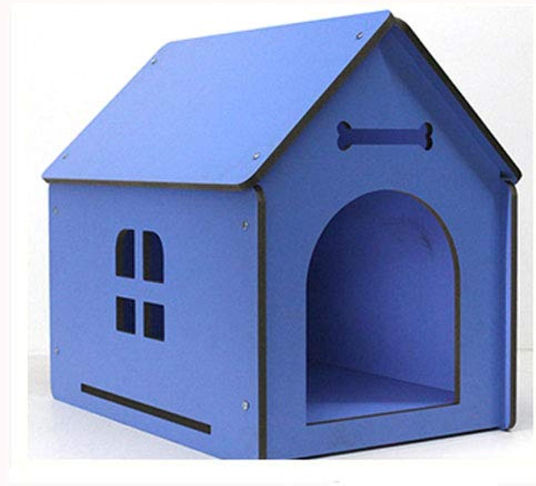 mas preferencial Lijin Lijin Lijin light Perrera de Madera Maciza Azul Mediano Perros medianos y pequeños al Aire Libre casa de Perro casa de Madera Chalet de Invierno casa de Perro de Madera Perrera Nido  a precios asequibles