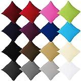 Buymax - 2er Pack Jersey Kissenbezüge mit Reißverschluss aus 100% Baumwolle Kissenbezug...