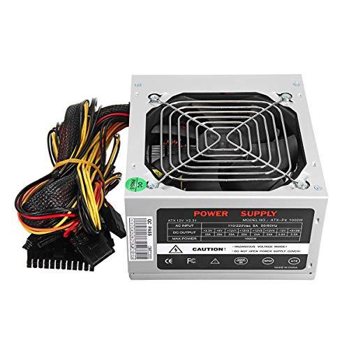 RanDal 1000W Stromversorgung Psu Pfc Silent Fan Atx 24-Pin Pc Computer Gaming Au - Silber