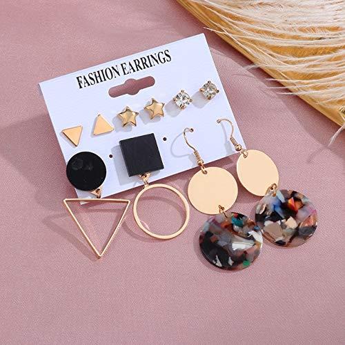 Pendientes de Perlas Vintage para Mujer, Grandes Cruces de Oro 2020, Conjunto de Pendientes llamativos con borlas largas, Pendientes Colgantes, joyería