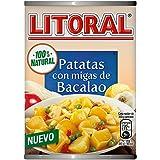 LITORAL Guiso de Patatas con migas de Bacalao - Plato Preparado de Guiso de patatas Sin Gluten - 420g