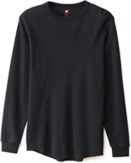 (へインズ) Hanes ヘインズ-プレミアム クルーネック サーマル ロングスリーブ Tシャツ(1パック)パックT ロンT メンズ HM4-N001