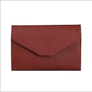 YXHM AU Women's PU Travel Multi-Function Passport Bag for Men and Women Tri-fold ID Folder Ultra-Thin Passport Wallet (Color : Coffee)