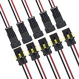 MWOHN Conector de Cable Enchufe Impermeable, 10 Juegos 2 Pines Conector Rápido con Cable Eléctrico, para Coche, Barco, Moto y Quad