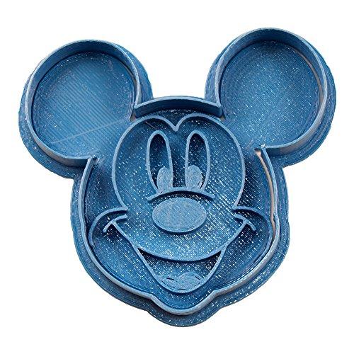 Cuticuter Mickey Mouse Cara Cortador de Galletas, Azul, 8x7x1.5 cm