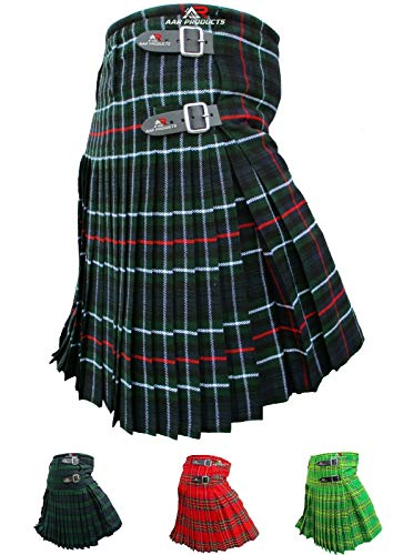 AAR Mens Kilt Scottish Tartan Kilt 13oz Highland Casual Kilt 4 Tartans