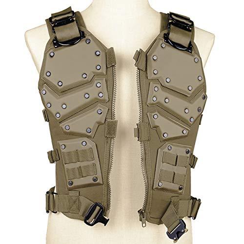 QZY Trustrüstung Transport Vest Erwachsene Männer Spezialkräfte Tactical Paintball Safe Protector Weste,Brown