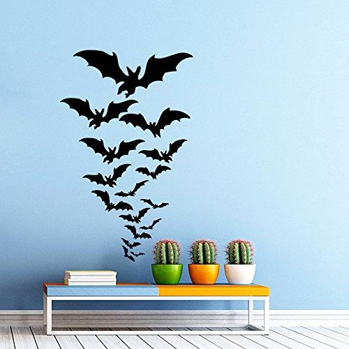 Sticker Mural Batte essaimage Battes Horreur Joyeux Halloween office fenêtre Dortoir Enfant Enfants cadeau Autocollant De Vinyle Stickers Décor Murale Stickers muraux An192