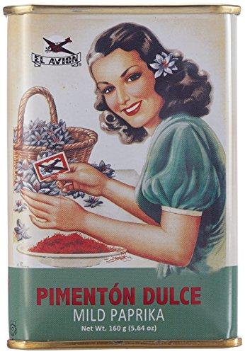 El Avion Pimentón Dulce - süßes Paprikapulver aus Spanien/Valencia in einer Geschenkdose, 2er Pack (2 x 160 g)
