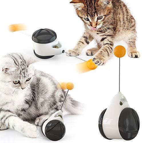 negaor Juguete para gatos Chaser Balanced Cat Chasing Toy Interactivo de gato columpio para cazar juguetes