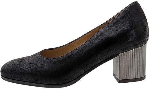 Zapato Cómodo mujer Salón Ante Metal negro 185301 PieSanto