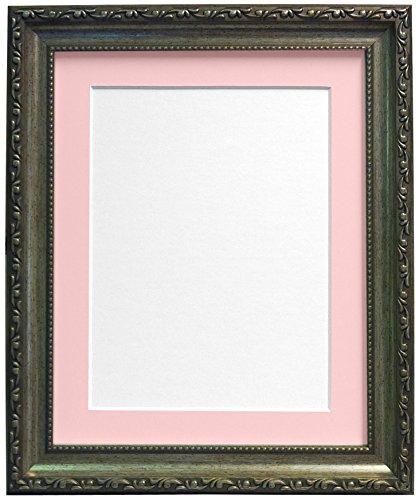 Frames BY POST fotolijst in shabby-chic-look Roze passe-partout A3 Image Size A4 zilver
