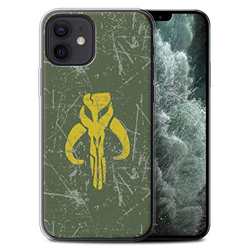 Phone Case Compitable for Apple iPhone 12/ 12Pro Galactic Symbol Art Bounty Hunter Inspired Design Transparent Clear Ultra Soft Flexible Silicone Gel/TPU Bumper Cover