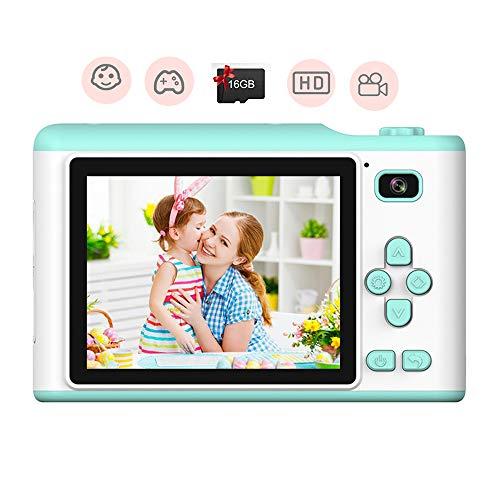 Gcputao Kinder Kamera Kinderfoto Mini-videorecorder 2 8-Zoll-Touchscreen Vorder- Und Rückseite Dual-Kamera 800 W Pixel Kommt Mit Blitz Blau