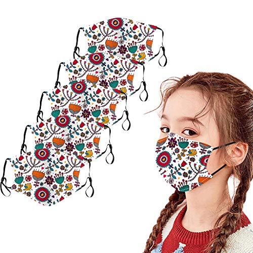 5 Piezas Niños __ Reutilizables Lavables Cara y Nariz Filtro, Reutilizable, Lavable,Patrón de Dibujos Animados para De Vuelta a la Escuela