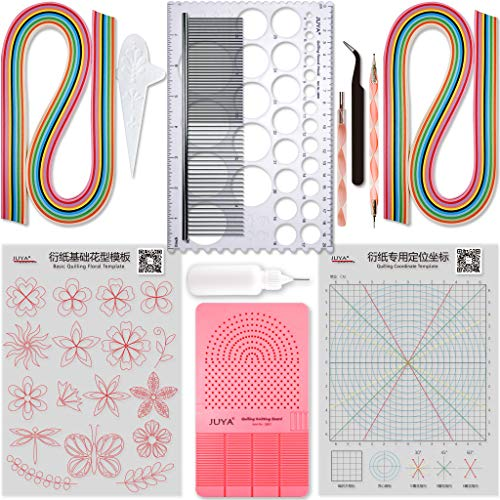16 Patterns Template DIY Tools Drawing Locating Paper Quilling Release Tool Craft Decoration Set Quilled Supplies HEEPDD Quilling Tools