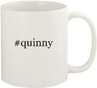 #quinny - 11oz Hashtag Ceramic White Coffee Mug Cup, White