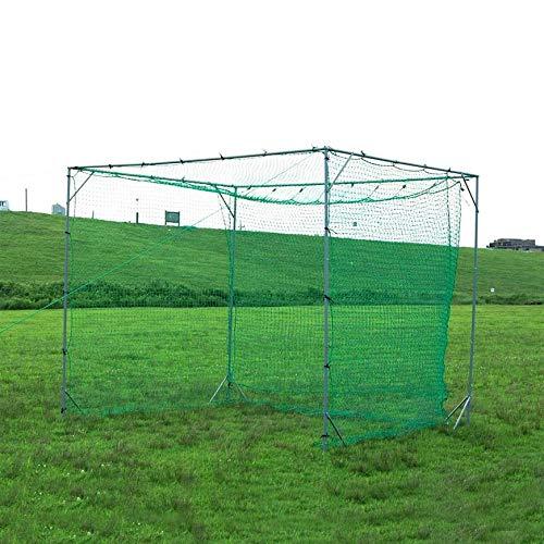 バッティング ゲージ 大型にバッティングティー付き FBN-3024N2 3.0m×2.4m×2.4m 野球 ネット 軟式用 バッティングネット 野球 ゲージ 軟式 フィールドフォース 野球 練習 ネット 野球ネット フィールドフォース 鳥カゴ バッティン