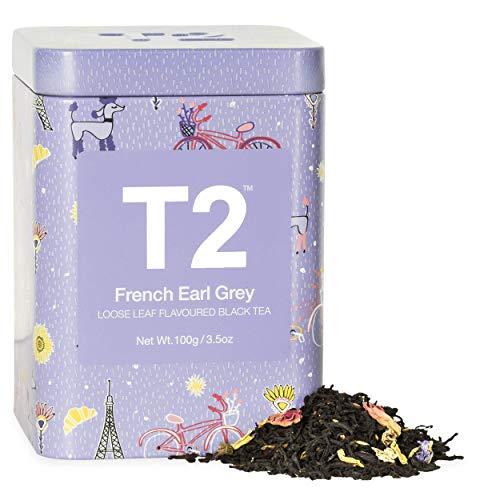 T2 Tea French Earl Grey Black Tea, Loose Leaf Black Tea In Limited Edition Tin, 3.5 Oz
