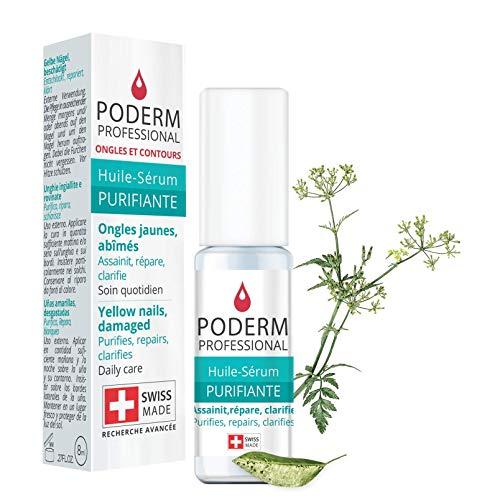 PODERM - MYCOSE ONGLE TRAITEMENT |Aux plantes exceptionnelles puissantes antifongiques et réparatrices |Soin professionnel pied/main |Facile & rapide |Swiss Made