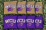 Victory Tailgate NCAA Regulation All Weather Cornhole Game Bag Set - 8 Bags Included - Western Carolina Catamounts