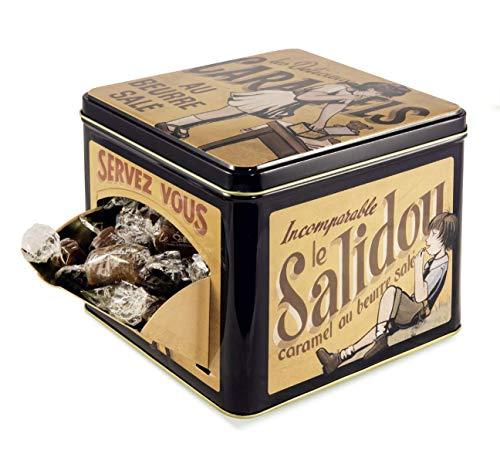 La Maison d'Armorine Caramelle al Burro Salato Incartate Singolarmente in Latta di Metallo Decorata - 1 x 500 Grammi