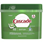 Cascade ActionPacs Dishwasher Detergent, Fresh Scent, 60 Count ( Pack May Vary )