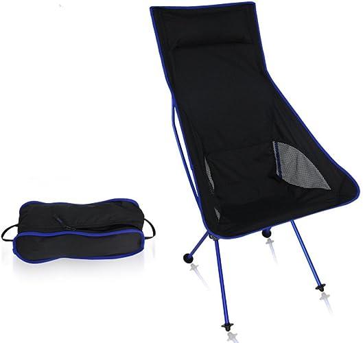 Maybesky Camping extérieur Multifonctionnel de pêche et Chaise Pliante de Chaise de Grand Dossier Chaise de Camping Pliante